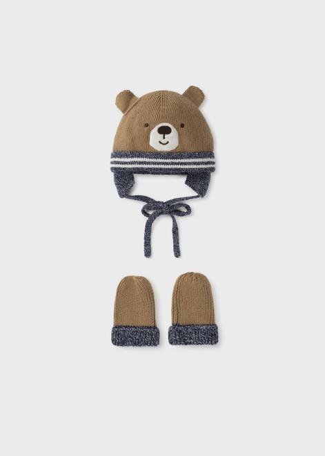 Bear Ear Flap Hat and Mitten Set