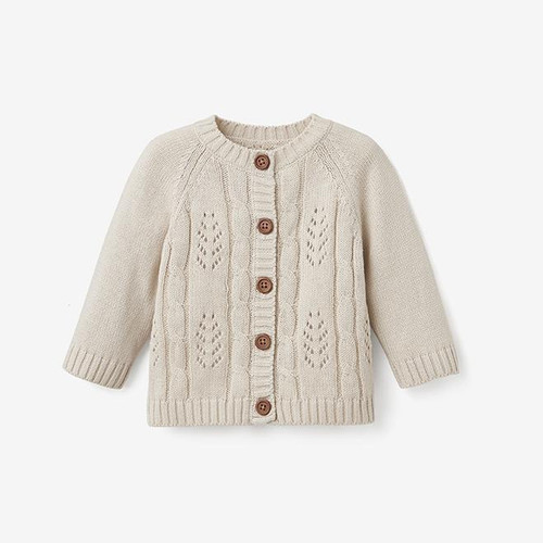 Wheat Leaf Knit Cardigan