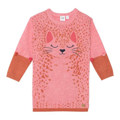 Knit Sweater Dress with Jacquard