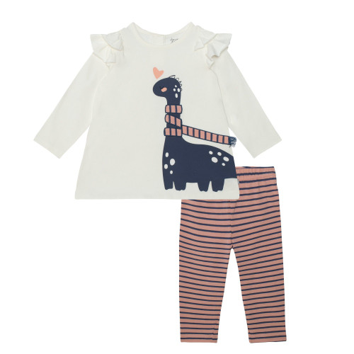 Dino Top with Striped Legging