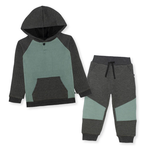 Quilted Top and Sweatpants Set