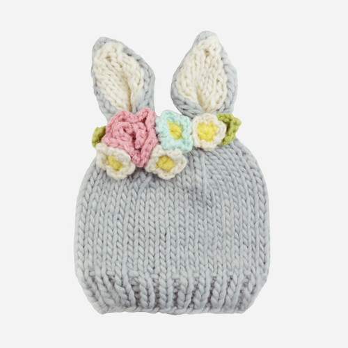 Baily Bunny Flowers Knit Hat
