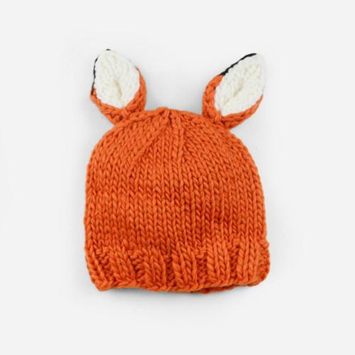 Rusty Fox Knit Hat - Orange