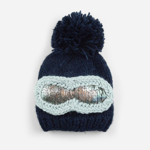 Ski Goggles Hat - Navy