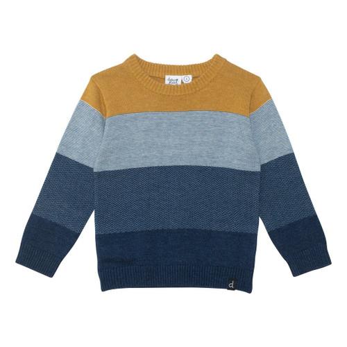 Wide Stripe Fine Knit Sweater - Toddler