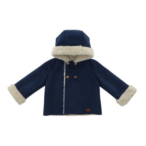 Midnight Blue Sherpa Coat