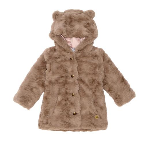 Fake Fur Coat with Hood