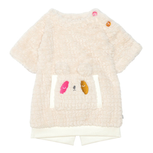 Plush Dress with Embroidery - Toddler