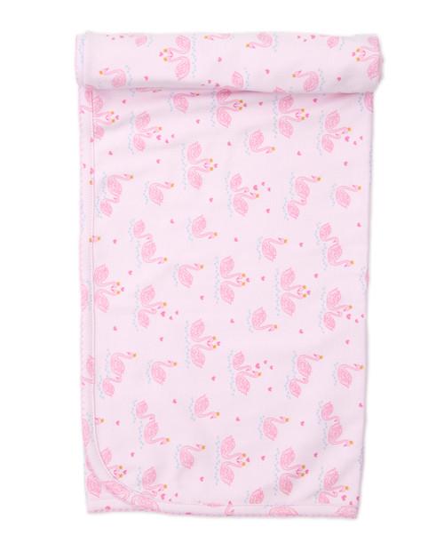Glitter Swans Blanket