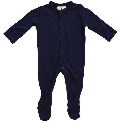 Bamboo Snap Footie - Navy