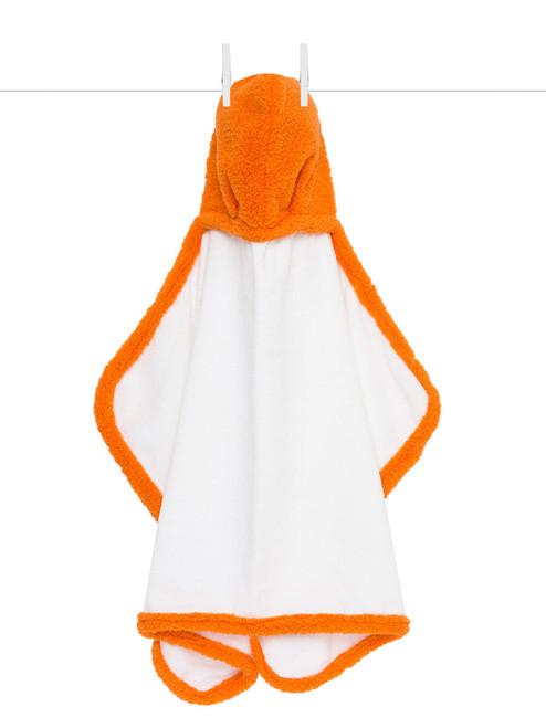 Hooded Chenille Towel - Orange