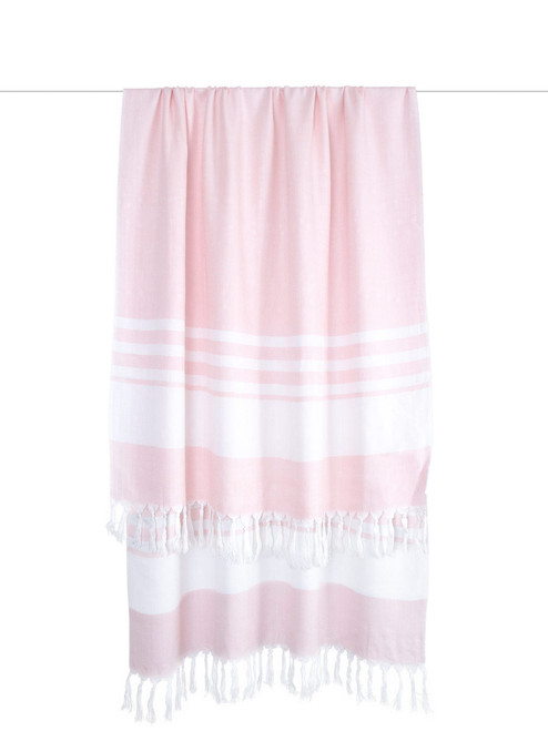 Pink Turkish Towel Nursing Wrap