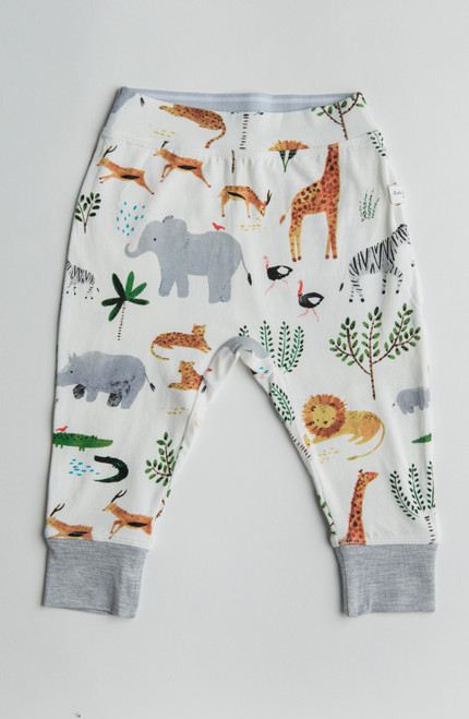 Safari Print Cotton Pants