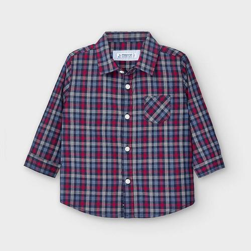 L/S Navy/Red Check Shirt