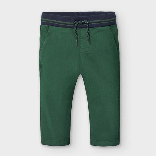 Green Twill Pull-on Pants