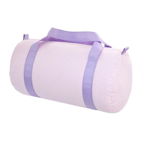 Medium Seersucker Duffle - Lavender