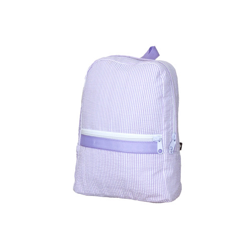 Small Seersucker Backpack - Lavender