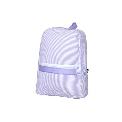 Small Seersucker Backpack - Lavender