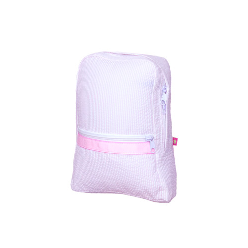 Small Seersucker Backpack - Pink