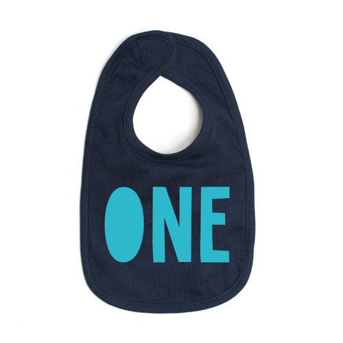 ONE Boy Birthday Bib