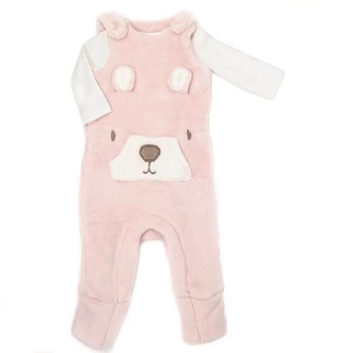 Pink Bear Romper