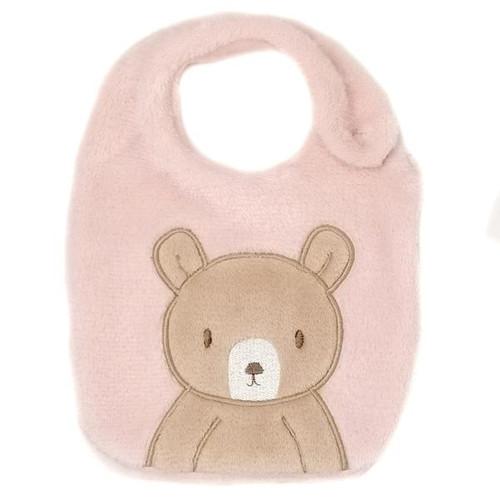 Pink Bear Bib