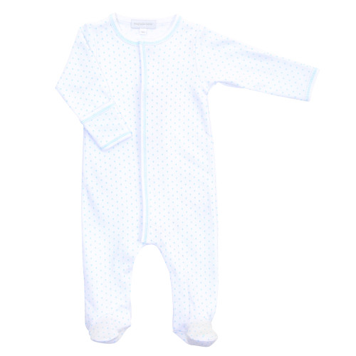 Mini Dot Footies - Blue