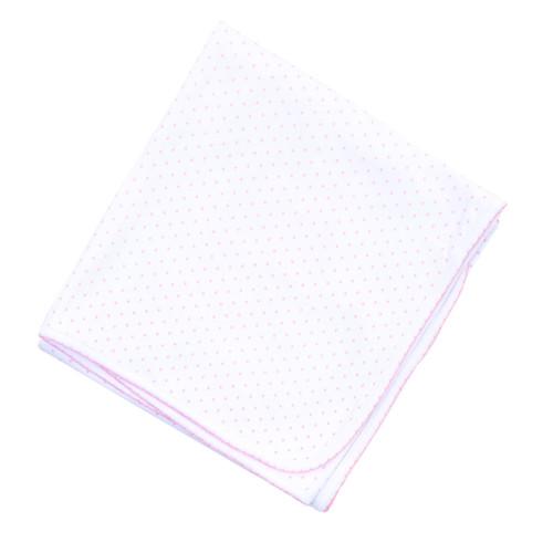 Mini Dot Blanket - Pink