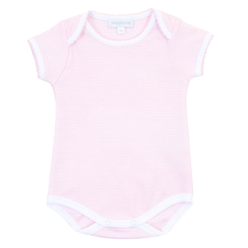 Mini Stripe Onesie - Pink