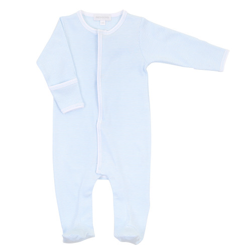Mini Stripe Footie - Blue