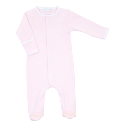 Mini Stripe Footie - Pink