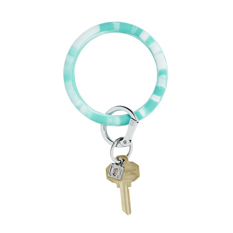 in the pOOL Marble SilicOne Big O Key Ring