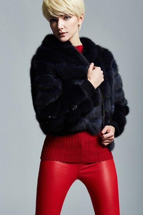 Navy Sable Fur Jacket