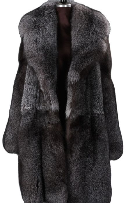 blue frost fox fur coat mens saga fur