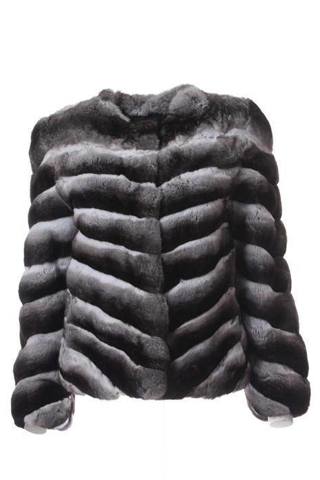Chinchilla Fur Jacket Low cut