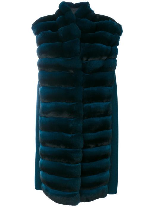 Long Green  Chinchilla Fur Vest