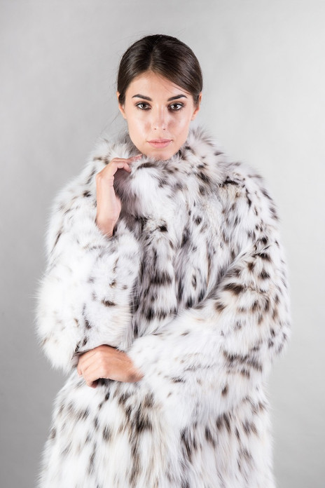 Bobcat  Lynx Fur Coat Snow Queen