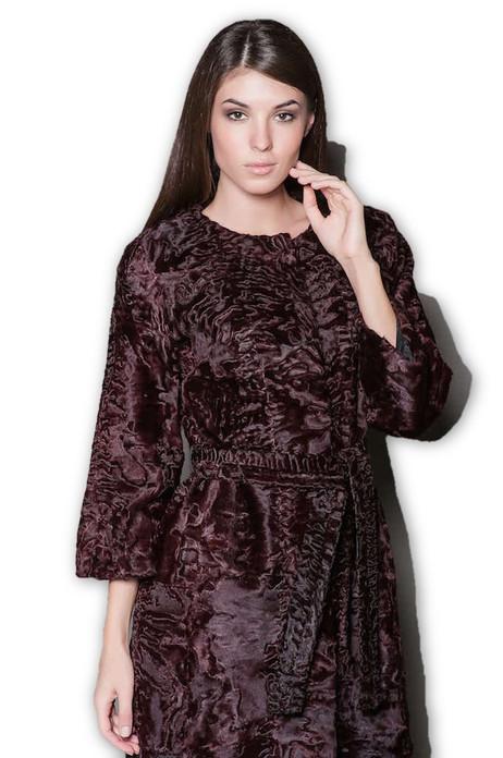 Purple Persian  Lamb Fur Coat  Yvette