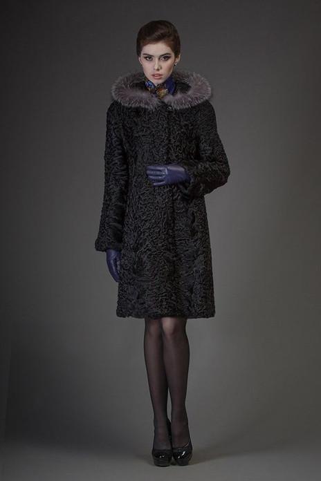 Hooded Black Persian Lamb Bridgitte