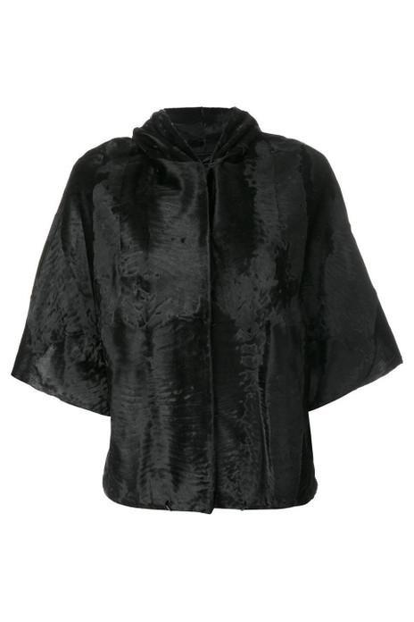 Short Hooded Broadtail  Lamb fur  Jacket Jackie