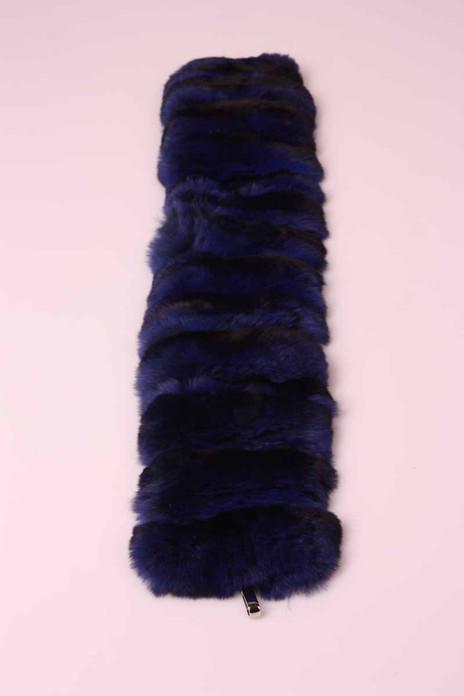 blue chinchilla fur trim