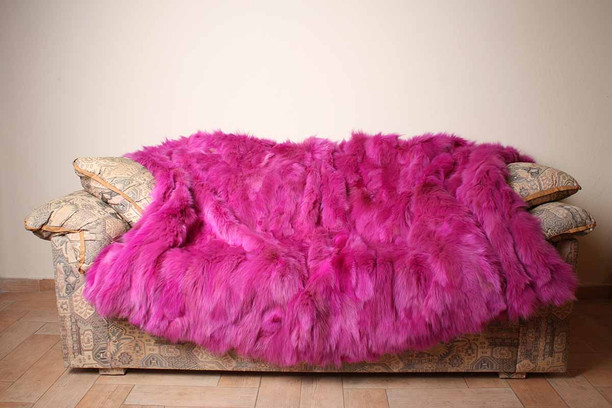 pink rex  fur blanket  twin size