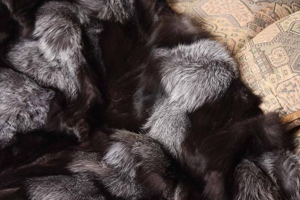 gray fur blanket light grey close up of silver fox fur blanket with velvet lining silver fox fur blanket throw skandinavik fur