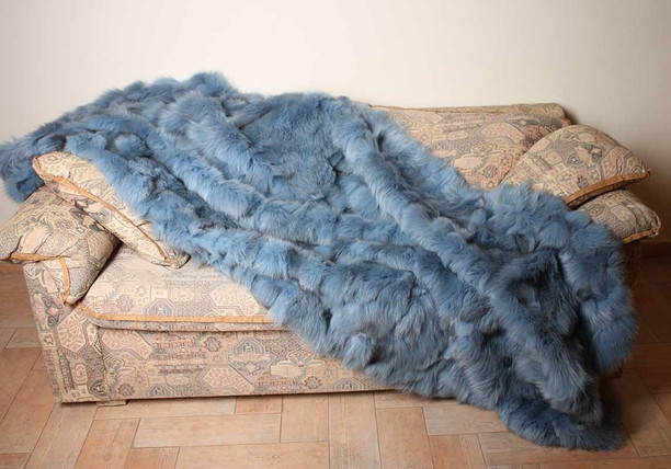 Ciel Rex Fur Blanket Throw