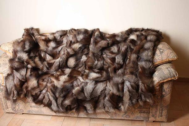 Crystal Fox Paws Fur Blanket Throw