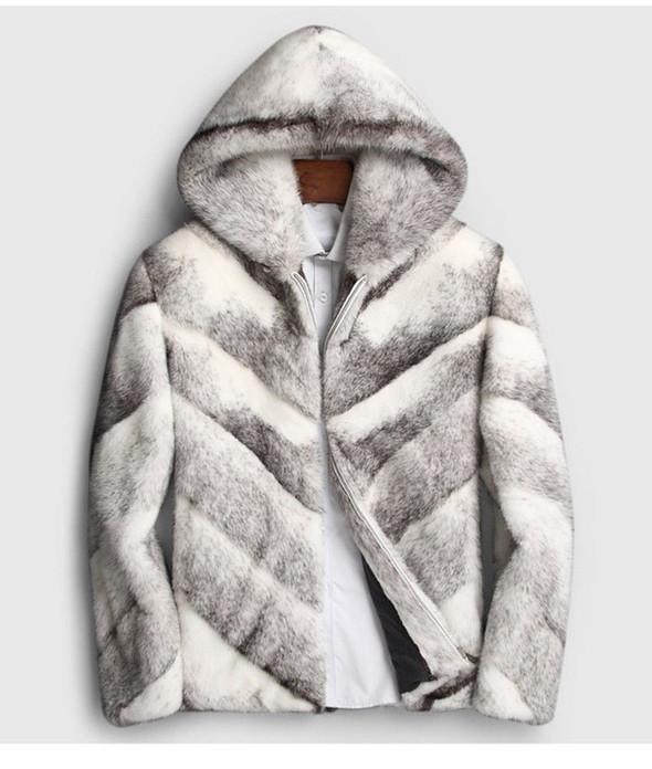 Mens Real Fur Coat Black Cross Saga Mexa Pelzmantel