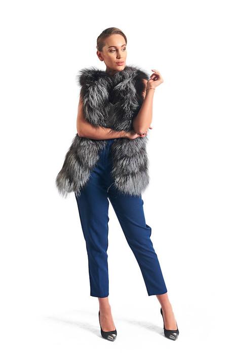 Silver Fox Fur Vest Anastasia