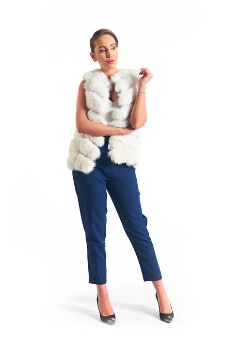 White Fox Fur Vest