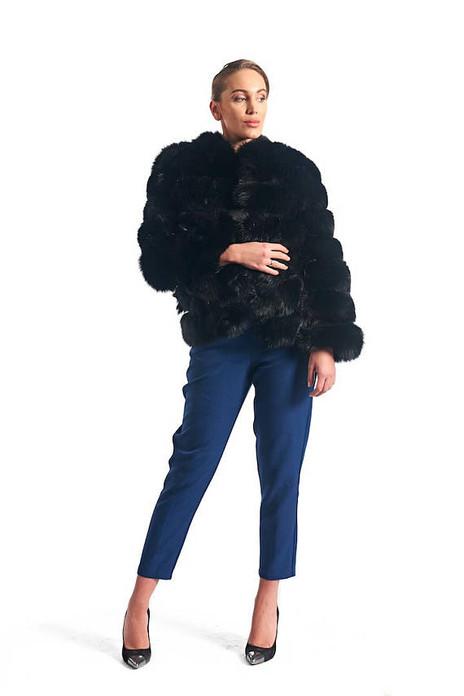 Black Fox Fur Jacket  Omni Chic