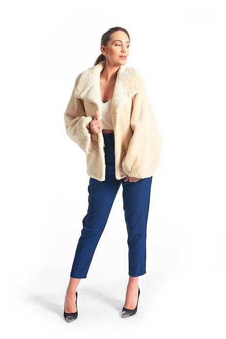 Beige  Beaver Fur Coat